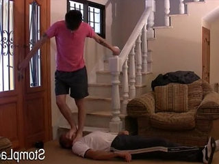 matt m stomping on a guy feet trampling domination | domination   feet top