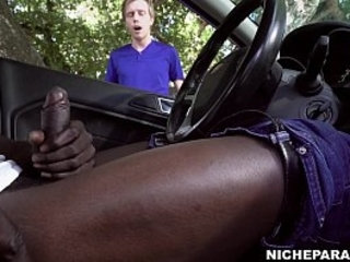 NICHE PARADE - Flashing My Big Black Cock, Got Myself HJ From White Guy | big porn   black tv   cocks   white