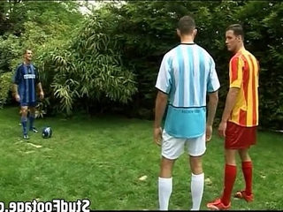 Hot soccer players having threesome | studs   threesome