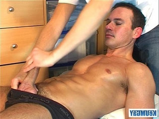 Marc is Jerking off in my hands, lot of sperm until coming... | massage   sperm