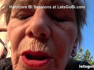 Granny Feels Young Against Two Bi Cocks | cocks  two movie  young man