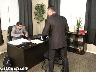 Muscular hunk drilling his boss   boss  hunks best  muscular  office