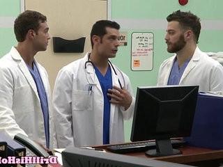 Gaysex bottom cums during threeway fun | anal top  bottom  cums  fun film  threeway