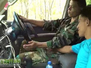 Civilian gets a taste of military meat | getting  meat guy  military  uniform