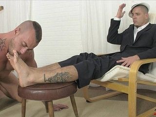 Gangster foot punishment | feet top   foot